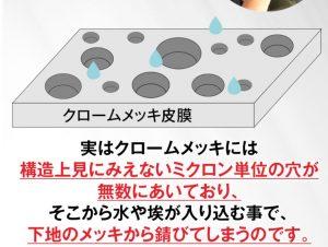 クロームメッキが錆びる原因【構造