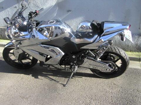 クロムメッキ使用・史上最鏡バイク
