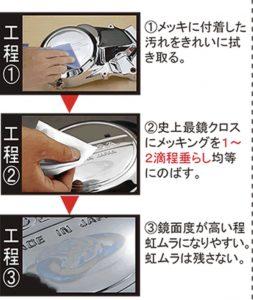 メッキング塗布の仕方1